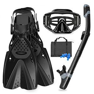 GoOsprey Mask Fins Snorkeling Gear for Adults Men Women