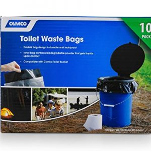 Toilet Waste Bags Great for Camping, Hiking and Hunting