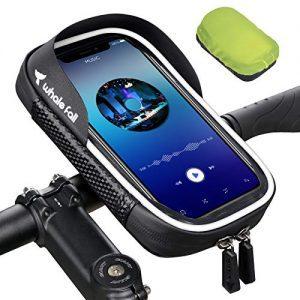 "Shockproof Motorcycle Phone Mount Bag for phones under 6.5"""