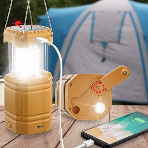 Portable Solar Hand Crank Flashlight for Emergency