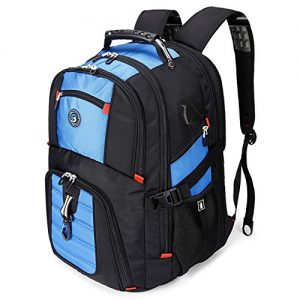 50L Travel Laptop Backpack with USB Charging Port