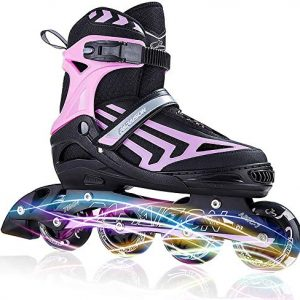 Adjustable Inline Skates for Kids and Adults with Light up