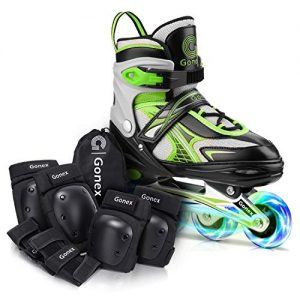 Gonex Size L Inline Skates with Elbow Pads Knee Pads