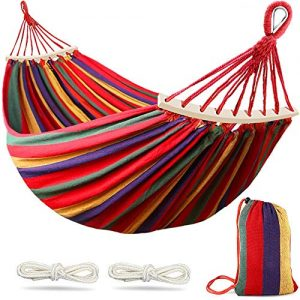 Camping Hammock 550lb with Two Anti Roll Balance Beam and Sturdy Metal Knot