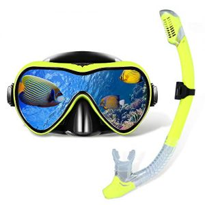 Snorkeling Gear with Anti Fog and Anti Leak Tempered Glass