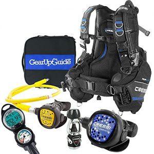 Cressi Aquaride Blue Pro BCD Scuba Gear Package