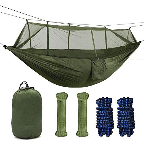 Camping Hammock with Mosquito Net for Relaxation, Traveling