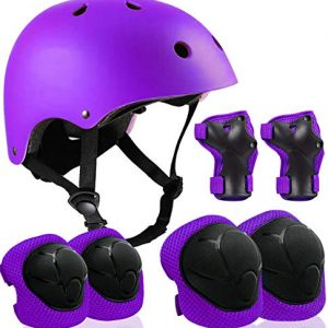Kids Adjustable Helmet with Sports Protective Gear Set