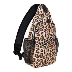 Travel Hiking Daypack Leopard Print Rope Crossbody Bag