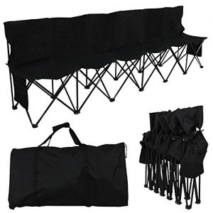 Foldable Sideline Bench for Sports Team Campin