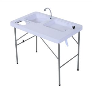 Portable Folding Camping Sink Table with Faucet