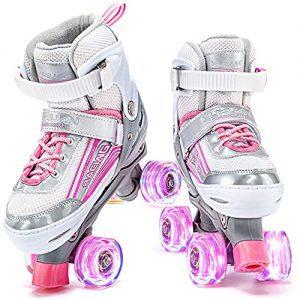 Roller Skates Adjustable for Kids Illuminating for Girls and Ladies