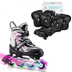 Gonex Size S Inline Skates with Knee Pads