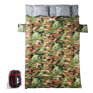 Double Sleeping Bag for Couple for Camping and Hiking