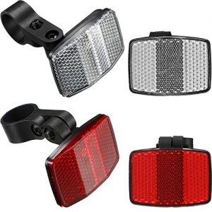 HESTYA 4 Pieces Bike Front and Rear Reflectors
