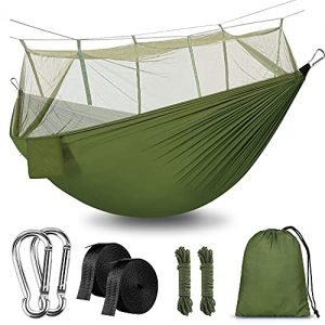 Camping Hammock with Net Outdoor Hammock Travel Bed Lightweight Camping Hammock with Net Outdoor