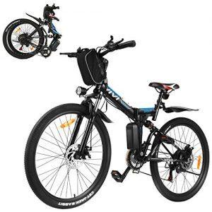 Lightweight Folding Electric Bike with Shimano 21 Speed Gears