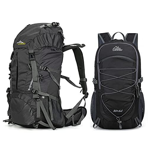 Black 50L Hiking Backpack