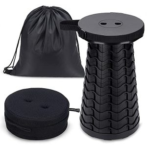 550lbs Upgraded Retractable Stool with Cushion