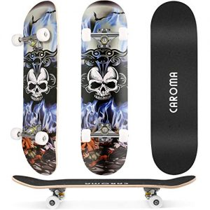 Skateboard for Beginners Wood Deck Trick Double Kick Concave