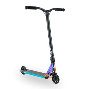 Xspec Rainbow Neo Chrome Pro Stunt Kick Scooter