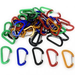 Bulk 50 Pack of Wiregate Carabiner Keychains