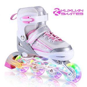 Kuxuan Inline Skates Adjustable for Kids