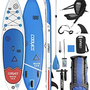 Large Fin, Leash Premium Inflatable Stand Up Paddle Board