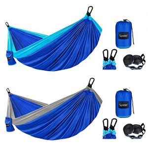 Lightweight Nylon Parachute Hammocks with Tree Straps for Survival Camping, Travel
