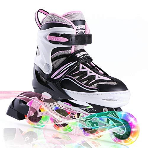 2pm Sports Cytia Pink Girls Adjustable Illuminating Inline Skates