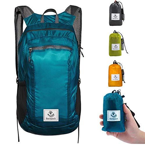 Blue Water Resistant Lightweight Packable Backpack