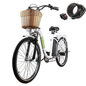 """NAKTO Electric Bike 26"""" Electric Bicycle for Adults"""