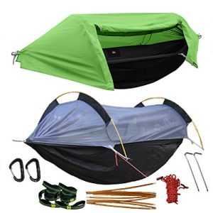 Camping Hammock with Mosquito Net and Rainfly Cover