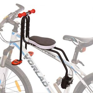 Baby Bike Seat with Armrest and Foot Pedals
