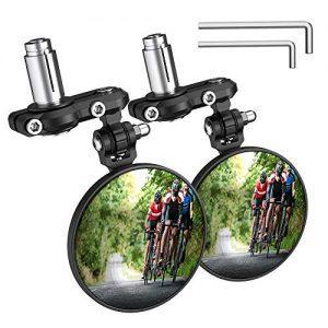 PACEARTH Bar End Bike Mirror Blast-Resistant Aluminum