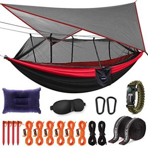 Camping Hammock with Mosquito Net And Rain Fly