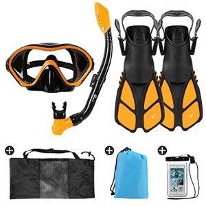 Odoland 6-in-1 Kids Snorkeling Packages Snorkel Set