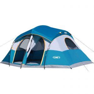 UNP Tents for Camping with 1 Mesh Door & 5 Large Mesh Windows