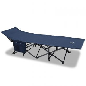 Navy Oversized Camping Cot Supports 600 lbs