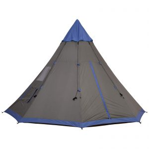 Outdoor Teepee Tent with Waterproof Material for Family and Friends Camping