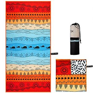 Extra Large Microfiber Towel for Camping, Travel, Beach