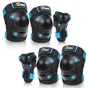 Bike Skateboard Knee Pads and Elbow Pads with Wrist Guards
