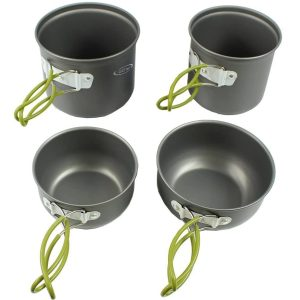 Camping Cookware Mess Kit Hiking Backpacking