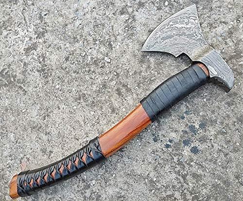 Viking Handmade Damascus Tomahawk Axe