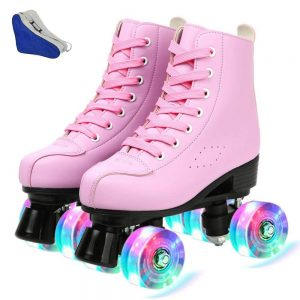 Roller Skates PU Leather High-top