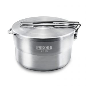 PSKOOK Stainless Steel Camping Pot