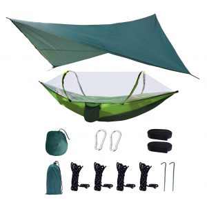 Hammock with Mosquito Net and Rainfly for Camping, Outdoors