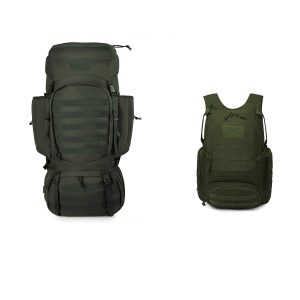 Tactical Backpack Army Green 25L+60L