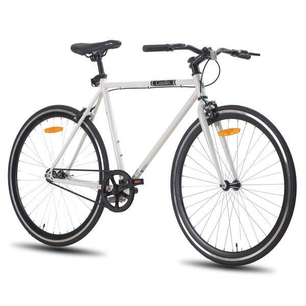 Hiland Road Bike 700C Wheels with Single-Speed
