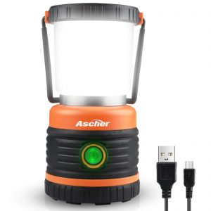 LED Camping Lantern Rechargeable for Power Outages, Emergency, Camping
